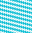 Turquoise and white diagonal chevron seamless vector image vector image