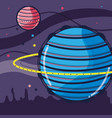uranus and venus planets in the galaxy space vector image vector image