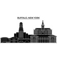 usa buffalo new york architecture city vector image vector image