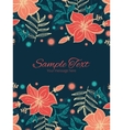 vibrant tropical hibiscus flowers vertical vector image vector image