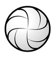 volleyball abstract silhouette vector image