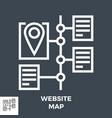 website map line icon vector image vector image