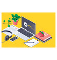 workplace for online education training courses vector image