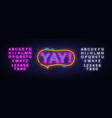 yay neon sign yay pop art design template vector image vector image