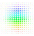 yin yang icon halftone spectral pattern vector image