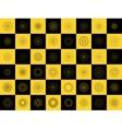 modern black and yellow geometric shape vector image