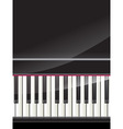 grand piano keys background vector image