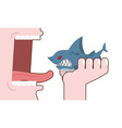Man eating shark Destruction of marine predator vector image