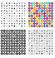 100 childrens park icons set variant vector image vector image
