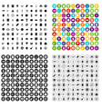 100 lunch icons set variant vector image vector image