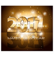 2017 happy new year background with gold vector image