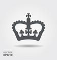 a crown in flat design style vector image vector image