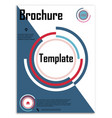 abstract business template brochure layout cover vector image vector image