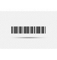barcode - icon bar code on transparent background vector image vector image