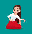 beautiful thai women traditional dancing a dance vector image vector image