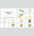 big bundle simple infographic design templates vector image