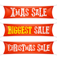 Biggest Christmas sale banners vector image vector image