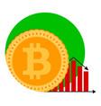 bitcoin money diagram falling icon vector image vector image