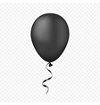 black balloon on a transparent background vector image vector image