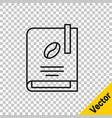 black line coffee book icon isolated on vector image vector image