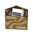 brown folder document paper office supplies vector image vector image