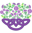 Celtic knot in the form of a basket with flowers vector image vector image