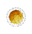 color abstract geometric sphere with gold vector image vector image