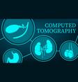 computed tomography and mri organs diagnostics vector image