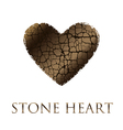 concept abstract broken heart modern style stone vector image vector image
