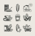 corn and products set icon vector image vector image