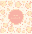 cupcake card vector image