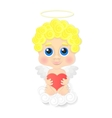 Cute angel with heart vector image vector image