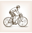Cycle racer on bicycle sketch vector image vector image