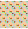 Diamond children pattern with funny snails vector image vector image