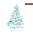 elegance Christmas tree vector image vector image