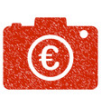 euro photo icon grunge watermark vector image vector image