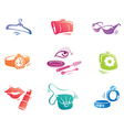 Fashion Accessories Icon Set vector image