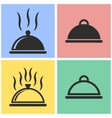 Food cover icon set vector image vector image