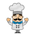 funny chef avatar character vector image vector image