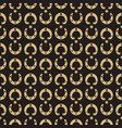gold horseshoe and stars seamless pattern vector image vector image