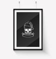 handdrawn angry skull santa claus vector image vector image