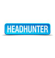 headhunter blue 3d realistic square isolated vector image vector image