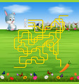 help the rabbit to find the carrot vector image vector image