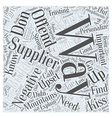 How and where to find suppliers Word Cloud Concept vector image vector image