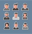 human avatars stickers set vector image vector image