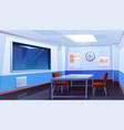 interrogation room in police station interior vector image vector image