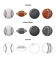 isolated object of sport and ball logo collection vector image