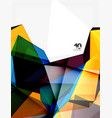 low poly geometric 3d shape background vector image