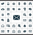 mail icons universal set for web and ui vector image