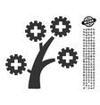 medical technology tree icon with job bonus vector image